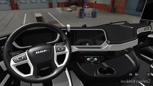 DAF 2021 White Interior for Euro Truck Simulator 2
