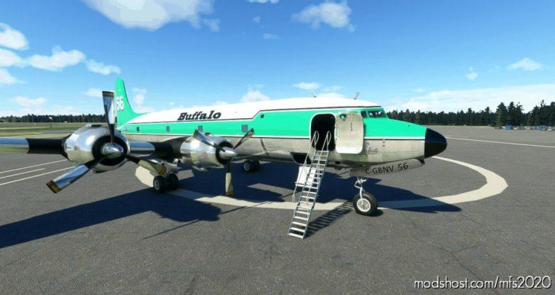 Pmdg DC-6A Interpretation Buffalo Airways C-Gbnv NO 56 (8K) for Microsoft Flight Simulator 2020