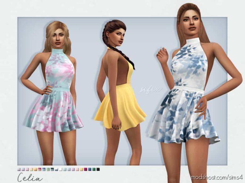Celia Dress for The Sims 4