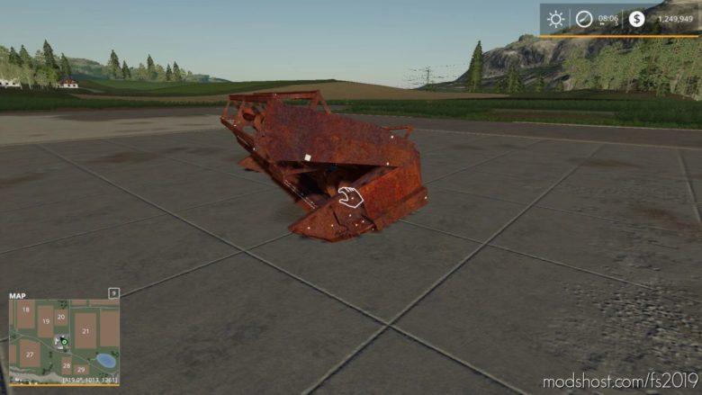 Rusty OLD Header for Farming Simulator 19
