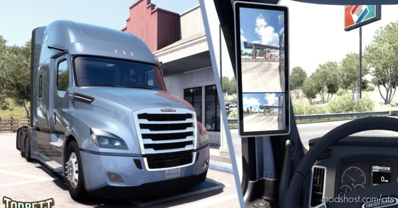 Mirror EYE For Newgen Cascadia for American Truck Simulator