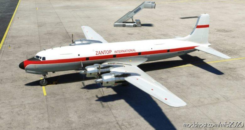 Pmdg DC-6A Zantop International N515TS for Microsoft Flight Simulator 2020
