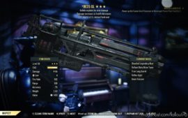 Dark Mind Gatling Laser Retexture for Fallout 76