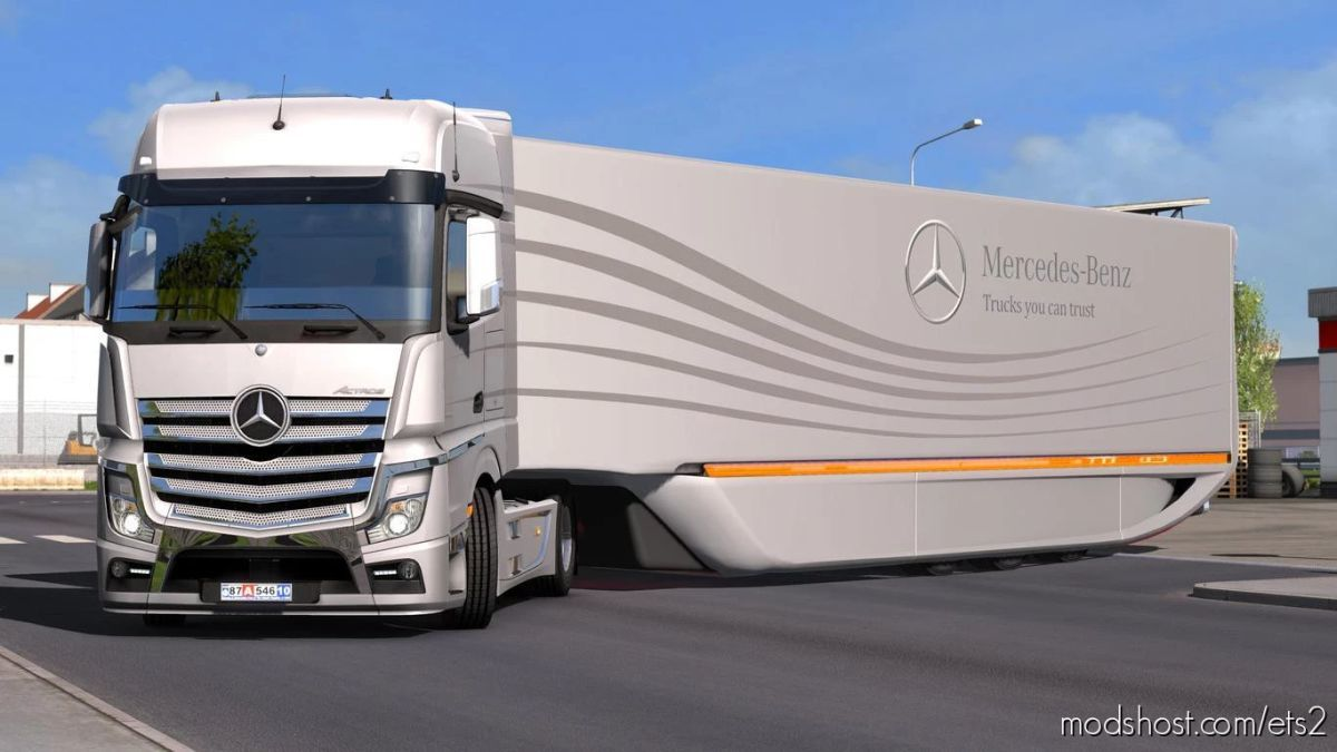 Mercedes Aerodynamic Trailer V1.2.4 [1.41.X] for Euro Truck Simulator 2