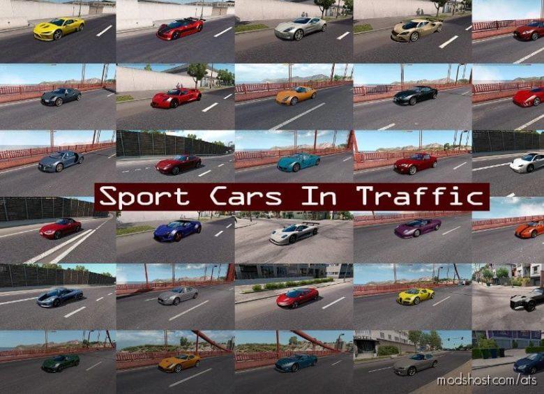 Sport Cars Traffic Pack By Trafficmaniac V8.6.2 for American Truck Simulator