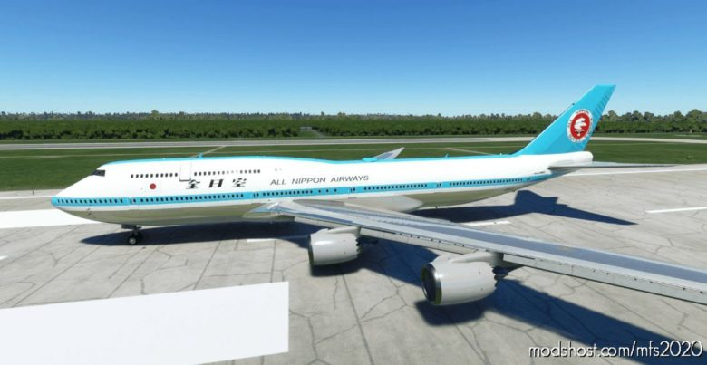 B747-8I ALL Nippon Airways ANA (Retro Mohican Livery) V0.9.0D [8K Ultra] (NO Mirror) V0.9.0 for Microsoft Flight Simulator 2020