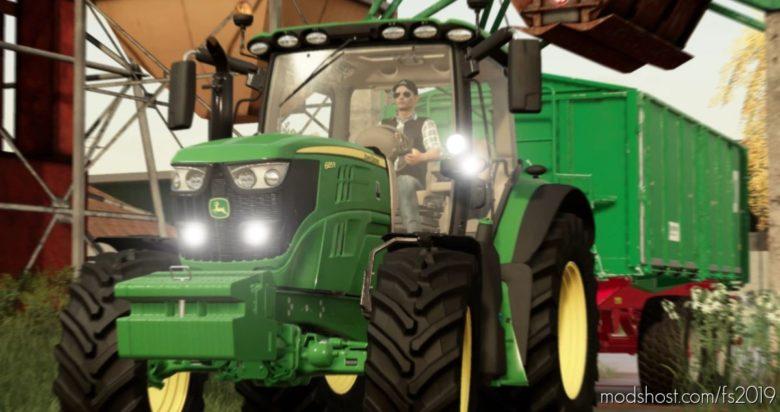 John Deere 6R V1.4 for Farming Simulator 19