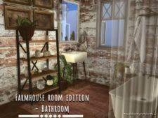 Farmhouse Bathroom for The Sims 4