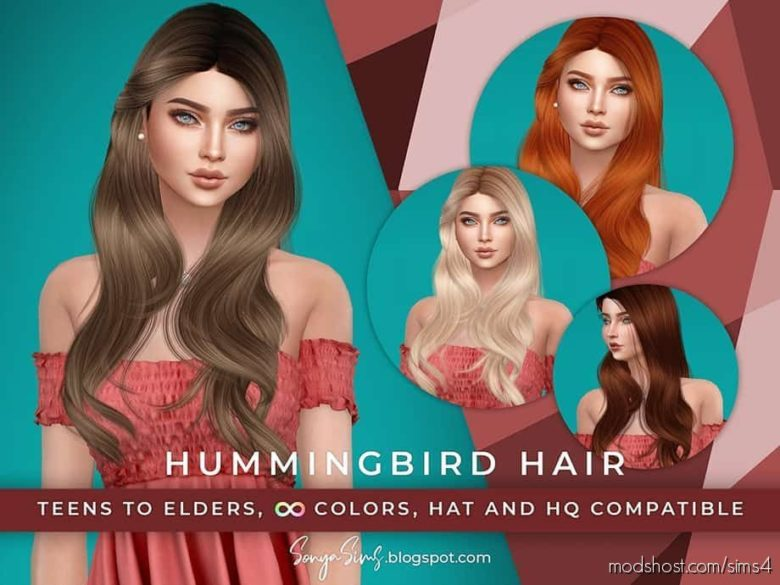 Hummingbird Hair for The Sims 4