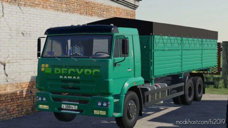 Kamaz 65117 Grain Truck V1.1 for Farming Simulator 19