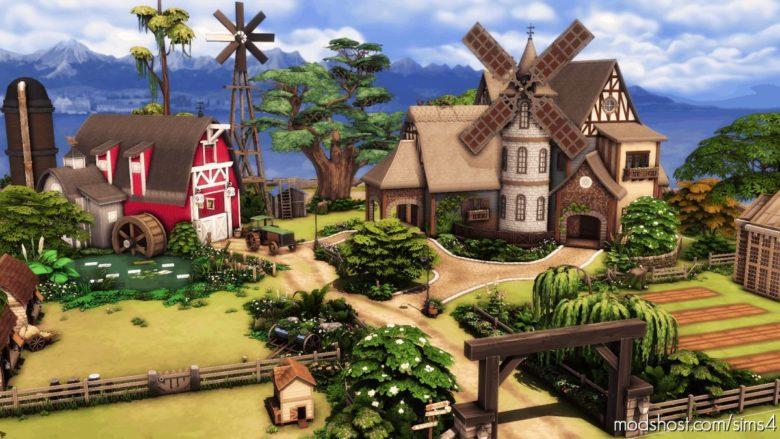 Windmill Farm – NO CC for The Sims 4