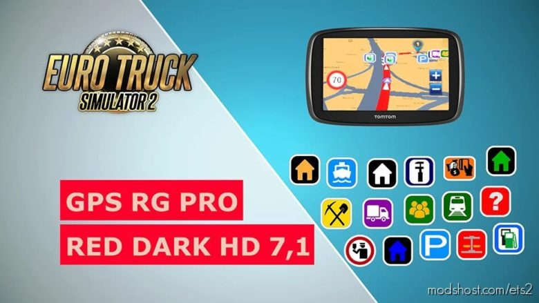 GPS RG PRO RED Dark HD V7.1 for Euro Truck Simulator 2