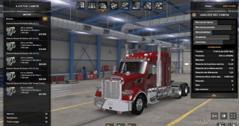 Detroit Diesel 60 Series Engines Pack V1.2 [1.39 – 1.41] for American Truck Simulator