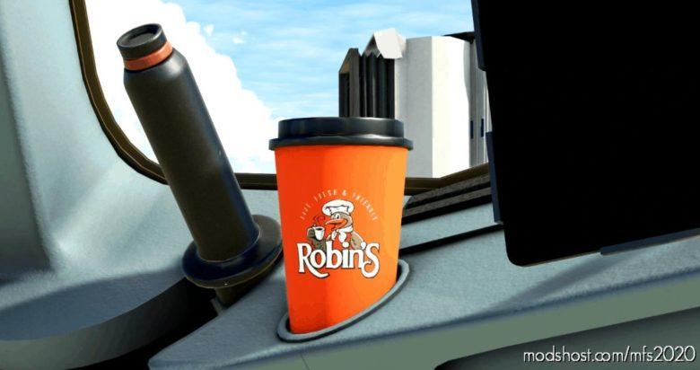 Robin's Donuts Coffee CUP for Microsoft Flight Simulator 2020