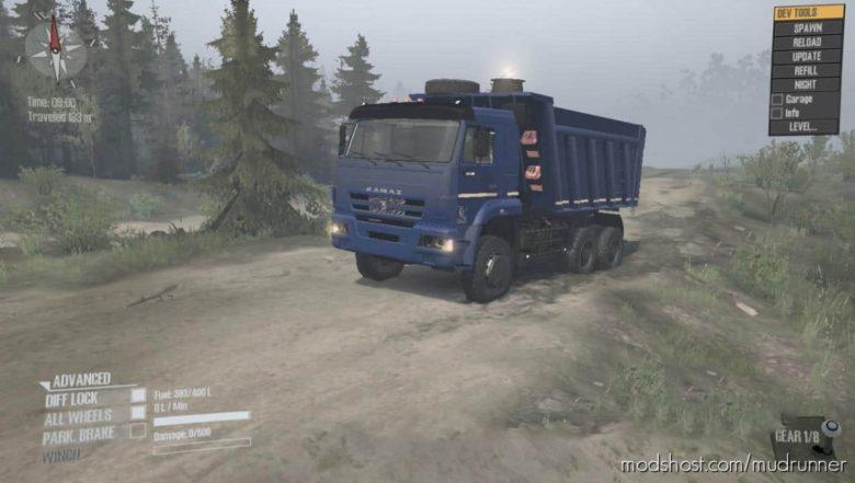 Savok Kamaz 6522 (Tractor-Dump Truck) for MudRunner