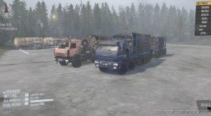 LIS And Wolf Kamaz 44108 And Kamaz 7330 (PAK Timber) for MudRunner