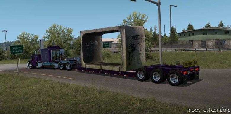 Ownable Etnyre Lowboy Black Hawk [1.41] for American Truck Simulator