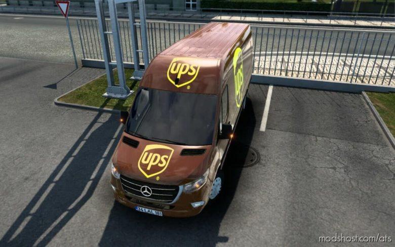 Skin Mercedes-Benz Sprinter 2021 UPS [1.41] for American Truck Simulator