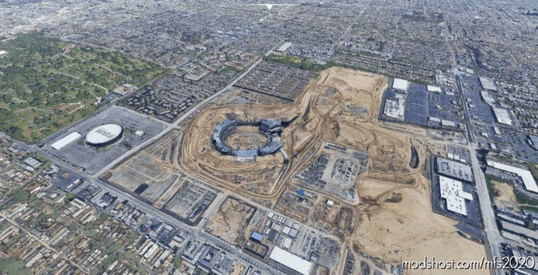 Sofi Stadium Under Construction for Microsoft Flight Simulator 2020