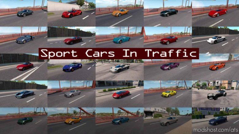 Sport Cars Traffic Pack (ATS) By Trafficmaniac V8.7 for American Truck Simulator