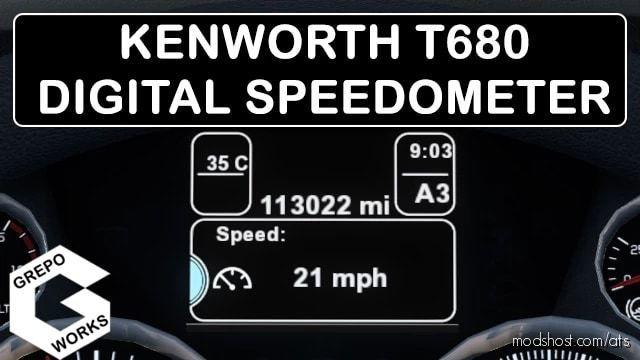 KW T680 Digital Speedometer for American Truck Simulator