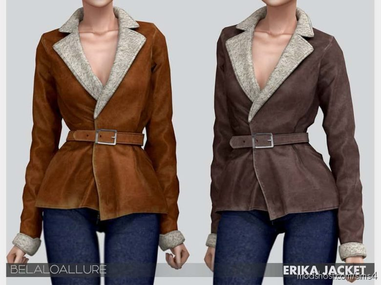 Belaloallure Erika Jacket for The Sims 4