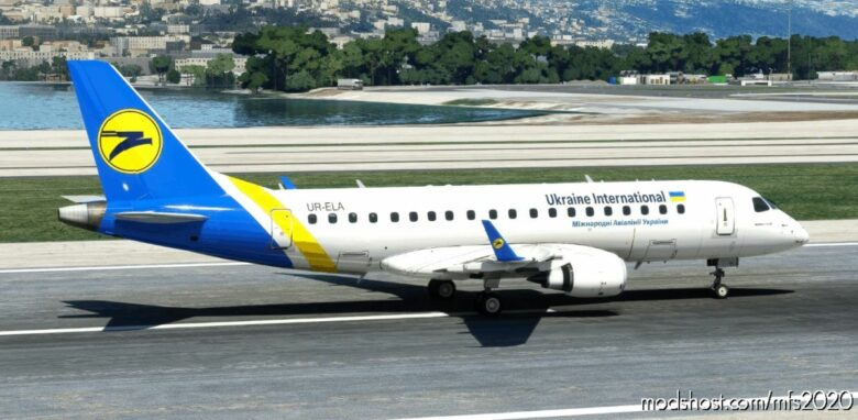 Ukraine International Airlines Embraer 175 Virtuacol for Microsoft Flight Simulator 2020