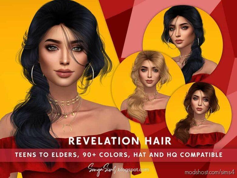 Revelation Hair for The Sims 4