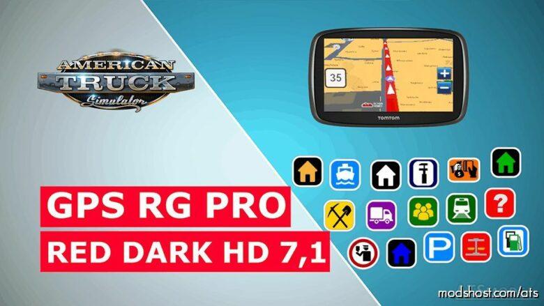 GPS RG PRO RED Dark HD V7.1 for American Truck Simulator
