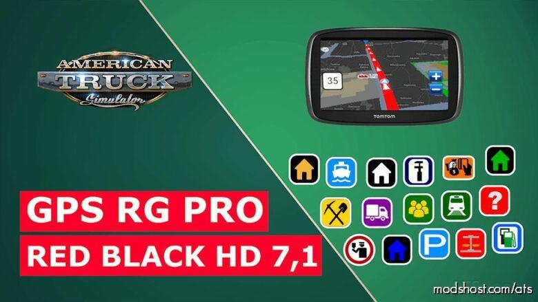 GPS RG PRO RED Black HD V7.1 for American Truck Simulator