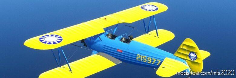 DC Designs Boeing PT-17 Stearman Rocaf Textures for Microsoft Flight Simulator 2020