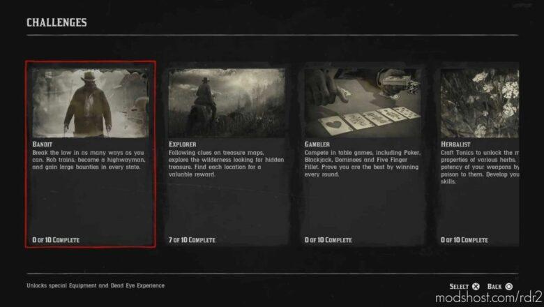 Challenge Overhaul for Red Dead Redemption 2
