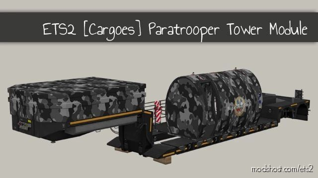 Paratrooper Training Tower Module for Euro Truck Simulator 2