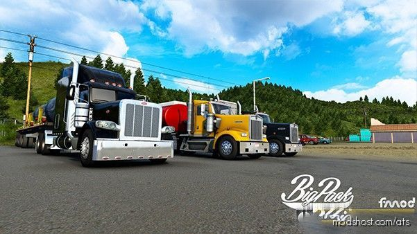 BIG Pack CAT 3406E 7IN Pipes for American Truck Simulator