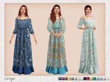 Bohemian Wedding – Carys Dress for The Sims 4