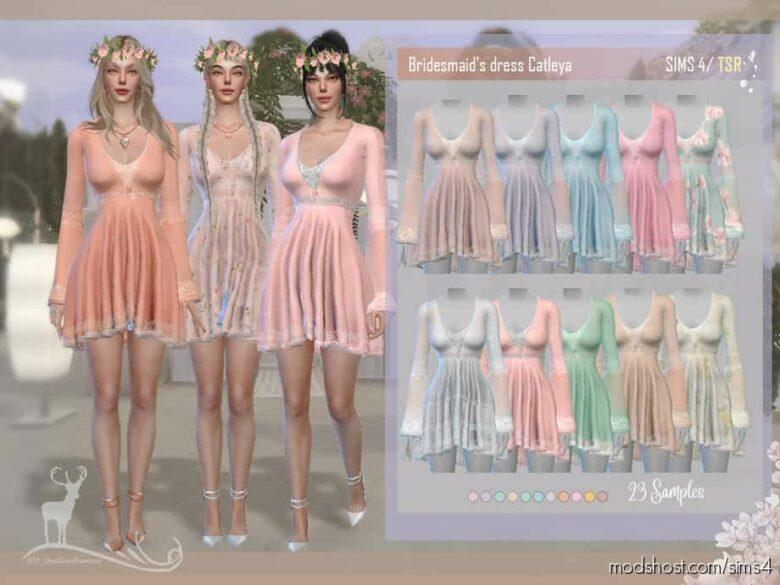 Bridesmaid Dress Catleya for The Sims 4