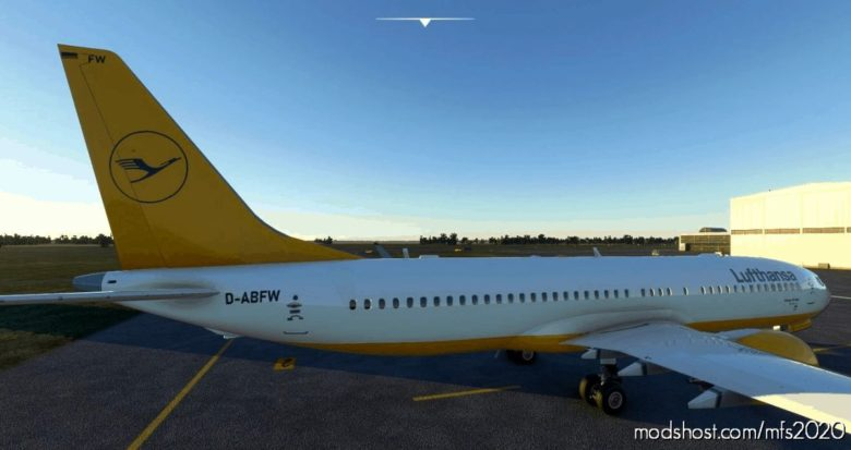 Bredok3D 737MAX Lufthansa Retro D-Abfw Yellow Request for Microsoft Flight Simulator 2020