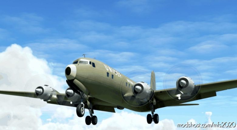 Biafran Airlift DC-6B Fragtflug Iceland Tf-Oab   1970 for Microsoft Flight Simulator 2020