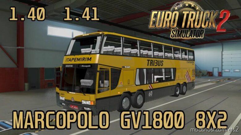 Marcopolo GV 1800 DD V3.0 [1.41.X] for Euro Truck Simulator 2