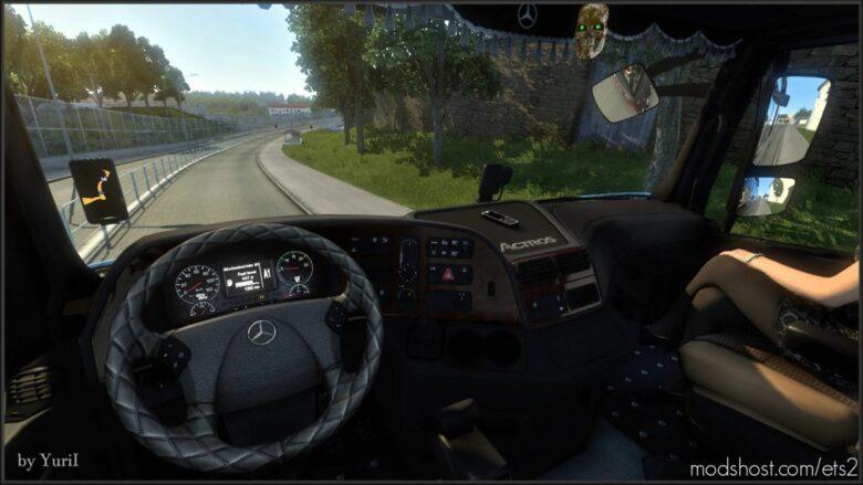 Dark Brown Interior For Mercedes Actros 2009 V0.9 for Euro Truck Simulator 2
