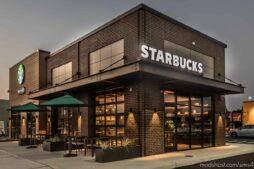 Starbucks Modern Restaurant for The Sims 4