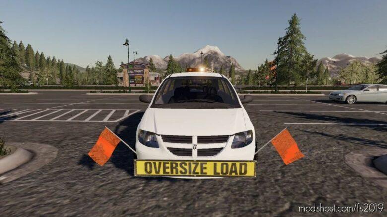 Dodge Grand Caravan Oversize Load/Pilot CAR for Farming Simulator 19