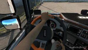 Animated Hands ON Steering Wheel V1.1 for Euro Truck Simulator 2