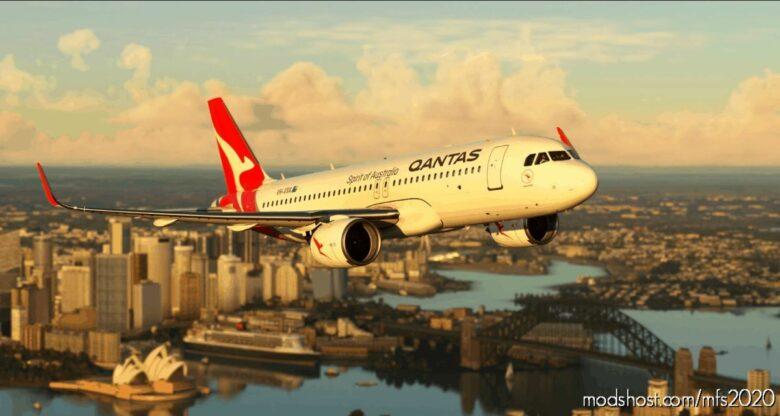[A32NX] Qantas Vh-Vxa Ulta for Microsoft Flight Simulator 2020
