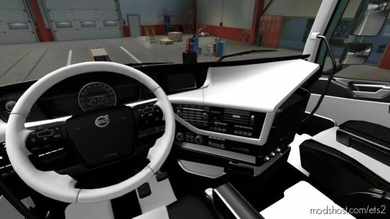 Volvo FH 2012 Black – White Interior [1.41] for Euro Truck Simulator 2