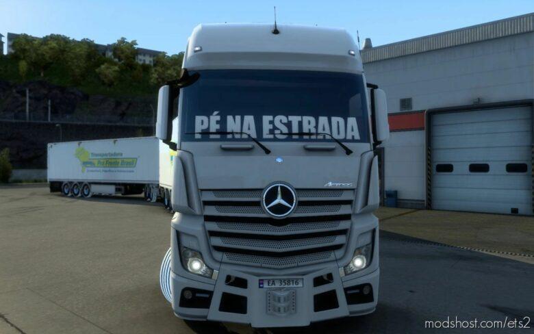 Sticker Glass For ALL Trucks Pé NA Estrada [1.41.X] for Euro Truck Simulator 2