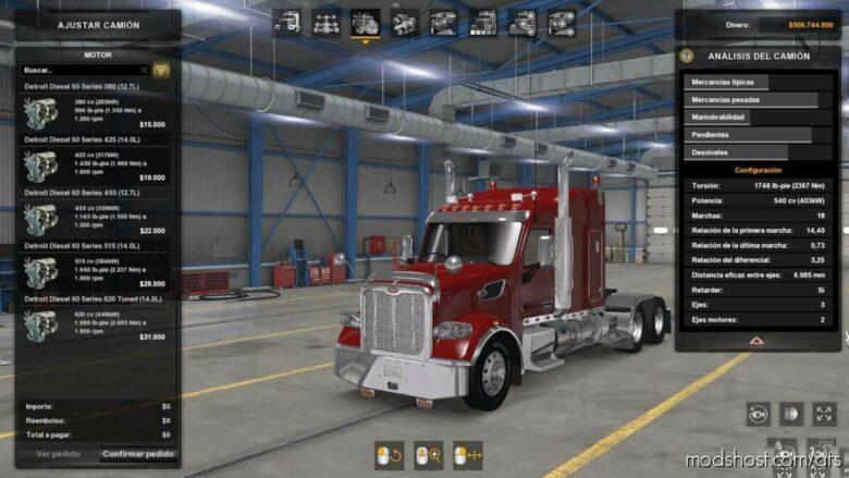 Detroit Diesel 60 Series Engines Pack V1.3 [1.39 – 1.41] for American Truck Simulator