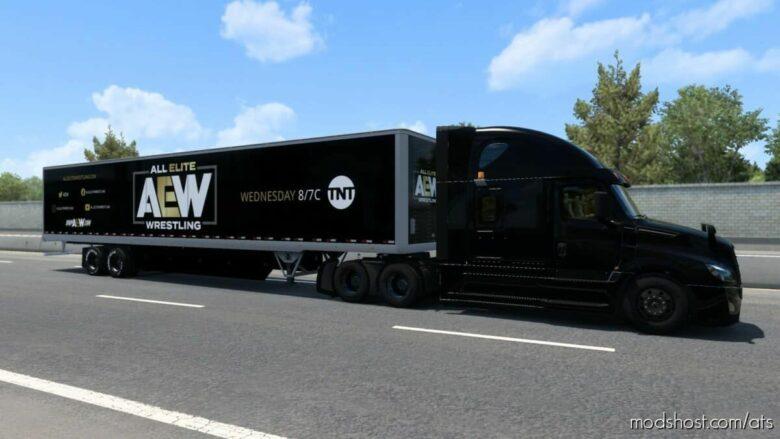AEW Trailer Skin for American Truck Simulator