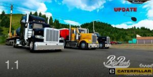 BIG Pack CAT 3406E 7IN Pipes V1.1 [1.41.X] for American Truck Simulator