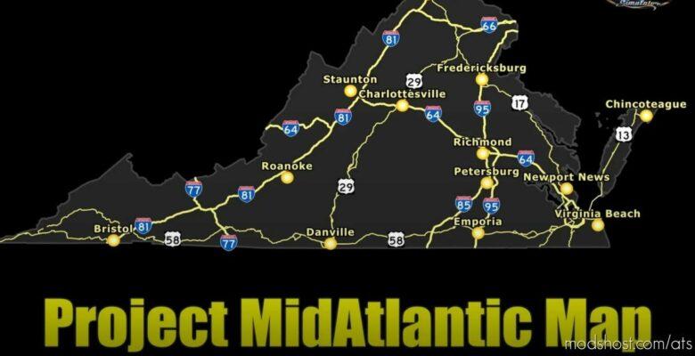 Project Midatlantic Map V0.2.0.1 [1.41.X] for American Truck Simulator